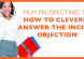 MLM Prospecting Tip: How To Answer The Income Objection