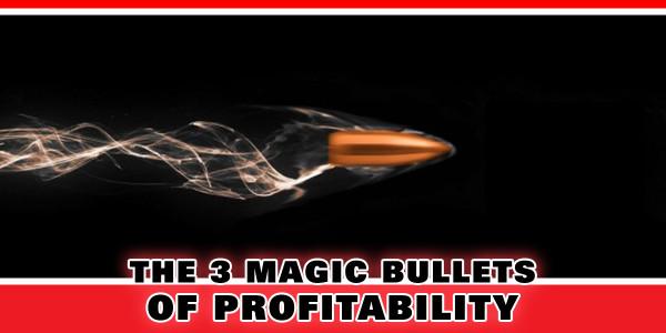 The 3 Magic Bullets of Profitability